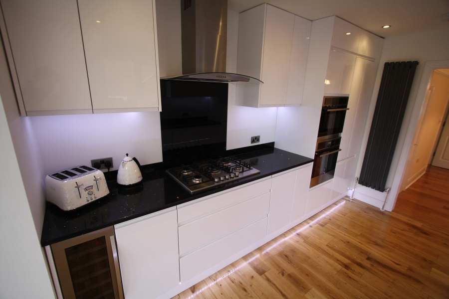 Kitchen fitting exeter kitchen design install service - Designer vertical radiators for kitchens ...
