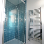 Bathroom Fitting Shower Cubicle & Heated Towel Rail