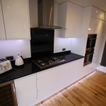 Fitted hob and quartz stone worktop